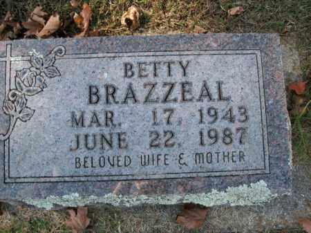 BRAZZEAL, BETTY - Boone County, Arkansas | BETTY BRAZZEAL - Arkansas Gravestone Photos