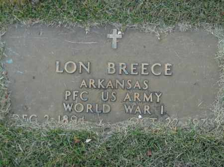 BREECE  (VETERAN WWI), LON - Boone County, Arkansas | LON BREECE  (VETERAN WWI) - Arkansas Gravestone Photos