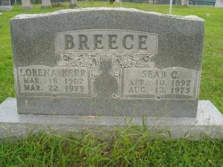 BREECE, LORENA - Boone County, Arkansas   LORENA BREECE - Arkansas Gravestone Photos