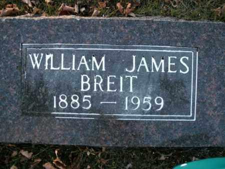 BREIT, WILLIAM JAMES - Boone County, Arkansas   WILLIAM JAMES BREIT - Arkansas Gravestone Photos
