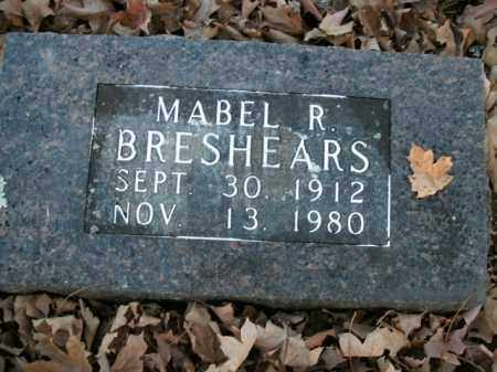 BRESHEARS, MABEL R. - Boone County, Arkansas   MABEL R. BRESHEARS - Arkansas Gravestone Photos