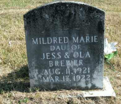 BREWER, MILDRED MARIE - Boone County, Arkansas   MILDRED MARIE BREWER - Arkansas Gravestone Photos