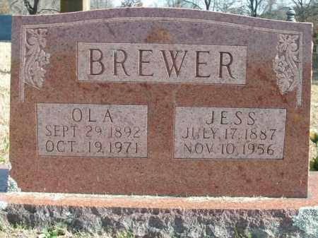BREWER, JESSIE OLIVER - Boone County, Arkansas   JESSIE OLIVER BREWER - Arkansas Gravestone Photos