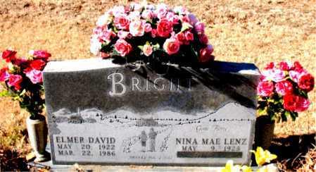 BRIGHT, ELMER DAVID - Boone County, Arkansas   ELMER DAVID BRIGHT - Arkansas Gravestone Photos