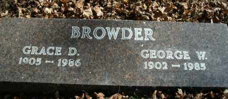BROWDER, GRACE D. - Boone County, Arkansas | GRACE D. BROWDER - Arkansas Gravestone Photos