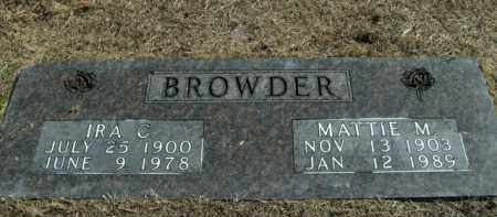 BROWDER, SR, IRA C. - Boone County, Arkansas | IRA C. BROWDER, SR - Arkansas Gravestone Photos