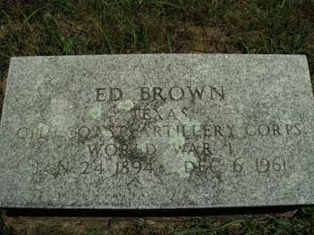 BROWN  (VETERAN WWI), ED - Boone County, Arkansas | ED BROWN  (VETERAN WWI) - Arkansas Gravestone Photos