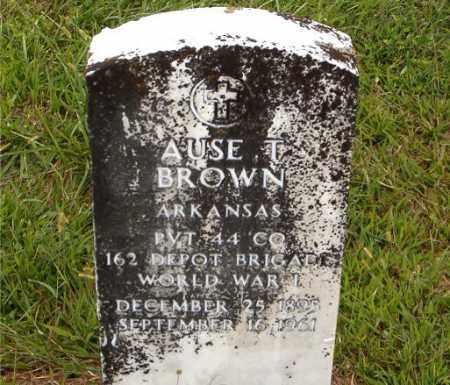 BROWN  (VETERAN WWI), AUSE  T. - Boone County, Arkansas | AUSE  T. BROWN  (VETERAN WWI) - Arkansas Gravestone Photos