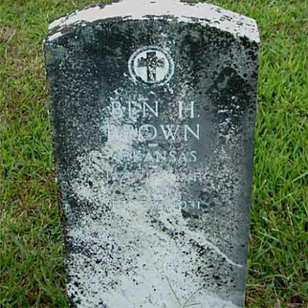BROWN  (VETERAN WWI), BEN  H. - Boone County, Arkansas   BEN  H. BROWN  (VETERAN WWI) - Arkansas Gravestone Photos
