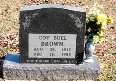 BROWN, COY  BUEL - Boone County, Arkansas   COY  BUEL BROWN - Arkansas Gravestone Photos