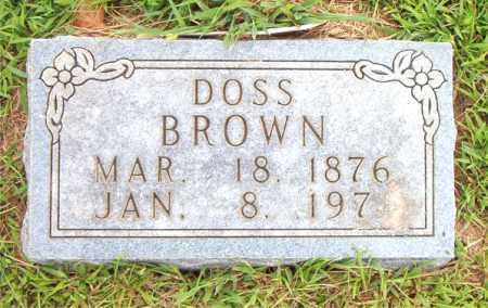 BROWN, DOSS - Boone County, Arkansas | DOSS BROWN - Arkansas Gravestone Photos