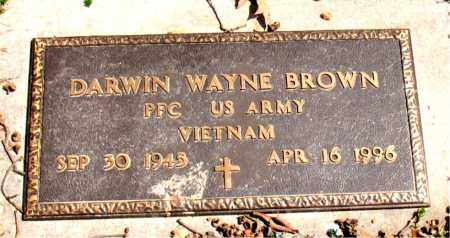 BROWN  (VETERAN VIET), DARWIN WAYNE - Boone County, Arkansas   DARWIN WAYNE BROWN  (VETERAN VIET) - Arkansas Gravestone Photos