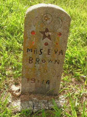 BROWN, EVA - Boone County, Arkansas   EVA BROWN - Arkansas Gravestone Photos