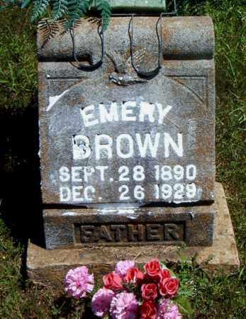 BROWN, EMERY - Boone County, Arkansas   EMERY BROWN - Arkansas Gravestone Photos