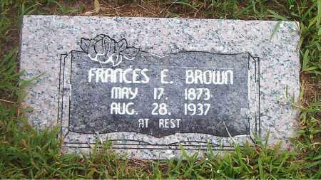 BROWN, FRANCES E. - Boone County, Arkansas   FRANCES E. BROWN - Arkansas Gravestone Photos