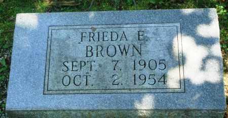 BROWN, FRIEDA E - Boone County, Arkansas | FRIEDA E BROWN - Arkansas Gravestone Photos
