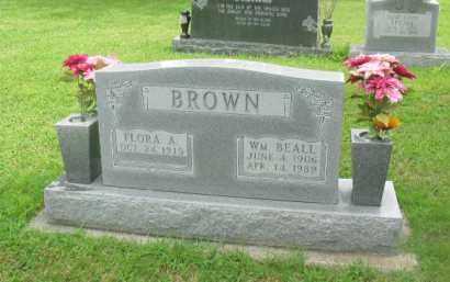 BROWN, WM BEALL - Boone County, Arkansas | WM BEALL BROWN - Arkansas Gravestone Photos