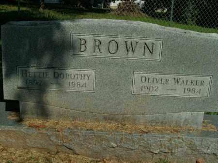 BROWN, OLIVER WALKER - Boone County, Arkansas   OLIVER WALKER BROWN - Arkansas Gravestone Photos