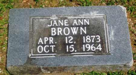 BROWN, JANE ANN - Boone County, Arkansas | JANE ANN BROWN - Arkansas Gravestone Photos