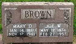BROWN, JOE W - Boone County, Arkansas   JOE W BROWN - Arkansas Gravestone Photos