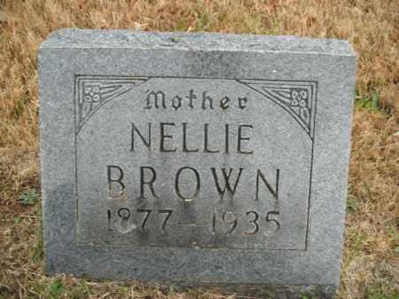 BROWN, NELLIE (NANCY) - Boone County, Arkansas   NELLIE (NANCY) BROWN - Arkansas Gravestone Photos