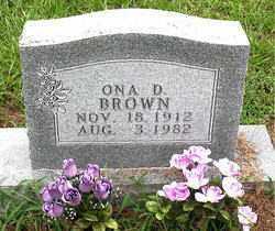 BROWN, ONA D - Boone County, Arkansas   ONA D BROWN - Arkansas Gravestone Photos