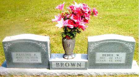 BROWN, HEBER  WILBURN - Boone County, Arkansas | HEBER  WILBURN BROWN - Arkansas Gravestone Photos
