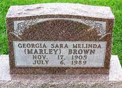 MARLEY BROWN, GEORGIA SARA MELINDA - Boone County, Arkansas | GEORGIA SARA MELINDA MARLEY BROWN - Arkansas Gravestone Photos