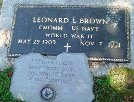 BROWN (VETERAN WWII), LEONARD L - Boone County, Arkansas | LEONARD L BROWN (VETERAN WWII) - Arkansas Gravestone Photos
