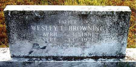 BROWNING, WESLEY L. - Boone County, Arkansas | WESLEY L. BROWNING - Arkansas Gravestone Photos