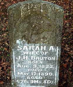 BRUTON, SARAH  ANN - Boone County, Arkansas   SARAH  ANN BRUTON - Arkansas Gravestone Photos