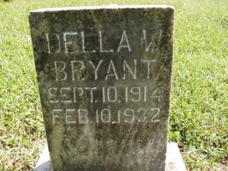 BRYANT, DELLA W. - Boone County, Arkansas | DELLA W. BRYANT - Arkansas Gravestone Photos