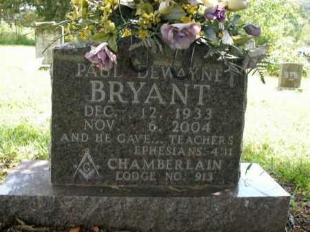 BRYANT, PAUL DEWAYNE - Boone County, Arkansas | PAUL DEWAYNE BRYANT - Arkansas Gravestone Photos