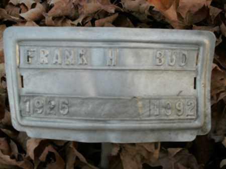 BUD, FRANK H. - Boone County, Arkansas   FRANK H. BUD - Arkansas Gravestone Photos