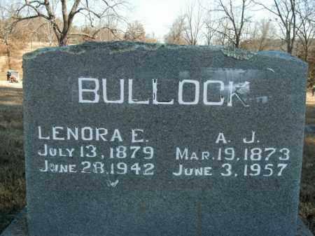 BULLOCK, LENORA ELLEN - Boone County, Arkansas | LENORA ELLEN BULLOCK - Arkansas Gravestone Photos