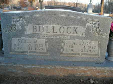BULLOCK, JR, ANDREW JACKSON - Boone County, Arkansas   ANDREW JACKSON BULLOCK, JR - Arkansas Gravestone Photos