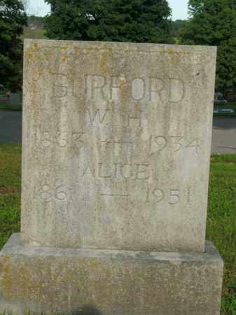 BURFORD, W.H. - Boone County, Arkansas | W.H. BURFORD - Arkansas Gravestone Photos