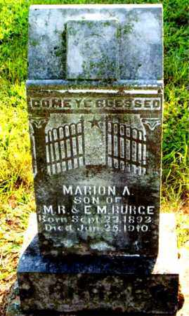 BURGE, MARION  A. - Boone County, Arkansas   MARION  A. BURGE - Arkansas Gravestone Photos