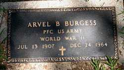 BURGESS  (VETERAN WWII), ARVEL B - Boone County, Arkansas   ARVEL B BURGESS  (VETERAN WWII) - Arkansas Gravestone Photos