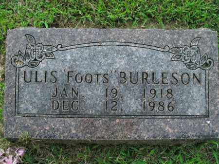 BURLESON, ULIS - Boone County, Arkansas   ULIS BURLESON - Arkansas Gravestone Photos