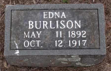 BURLISON, EDNA - Boone County, Arkansas   EDNA BURLISON - Arkansas Gravestone Photos