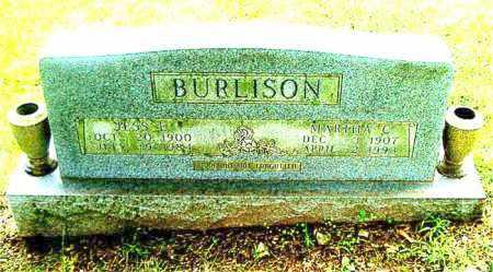 BURLISON, JESS E. - Boone County, Arkansas | JESS E. BURLISON - Arkansas Gravestone Photos
