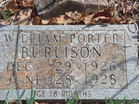 BURLISON, WILLIAM PORTER - Boone County, Arkansas | WILLIAM PORTER BURLISON - Arkansas Gravestone Photos