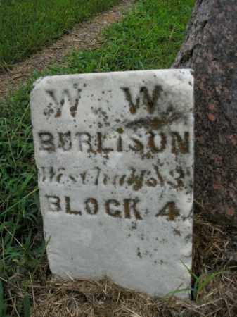 BURLISON, W.W. - Boone County, Arkansas | W.W. BURLISON - Arkansas Gravestone Photos