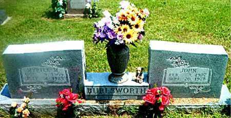 BURLSWORTH, MYRTLE  MAE - Boone County, Arkansas | MYRTLE  MAE BURLSWORTH - Arkansas Gravestone Photos