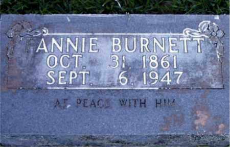 BURNETT, ANNIE - Boone County, Arkansas | ANNIE BURNETT - Arkansas Gravestone Photos