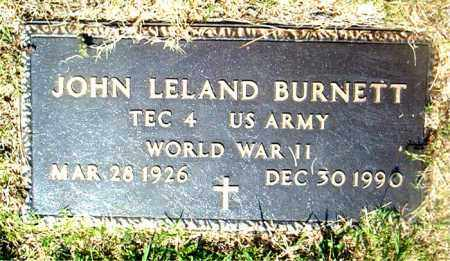 BURNETT  (VETERAN WWII), JOHN  LELAND - Boone County, Arkansas | JOHN  LELAND BURNETT  (VETERAN WWII) - Arkansas Gravestone Photos