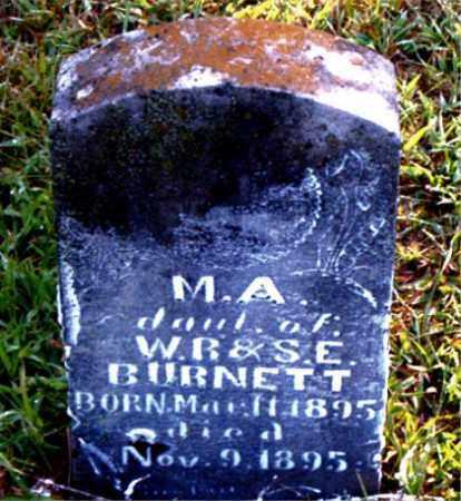 BURNETT, M.  A. - Boone County, Arkansas   M.  A. BURNETT - Arkansas Gravestone Photos