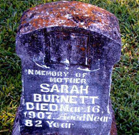 BURNETT, SARAH - Boone County, Arkansas | SARAH BURNETT - Arkansas Gravestone Photos