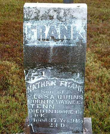 BURNS, NATHAN FRANK - Boone County, Arkansas | NATHAN FRANK BURNS - Arkansas Gravestone Photos